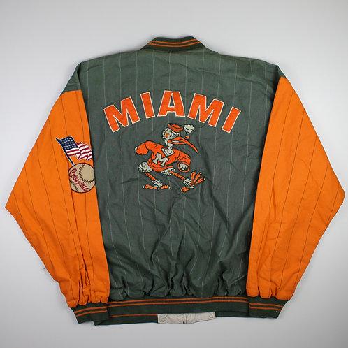 Vintage Reversible Miami Hurricanes Jacket