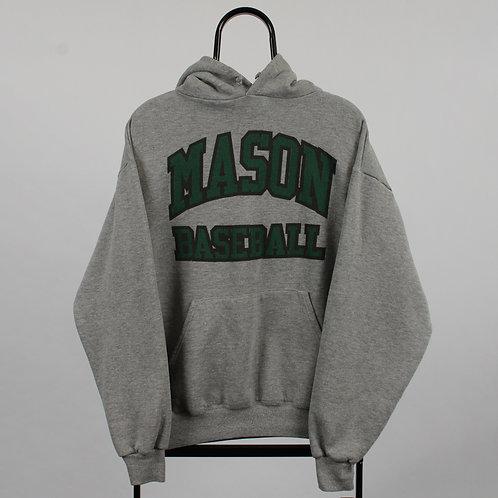 Vintage Grey Mason Baseball Hoodie