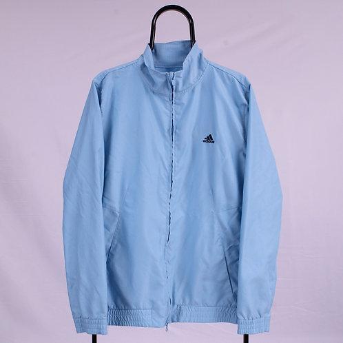 Adidas Vintage Blue Windbreaker Jacket