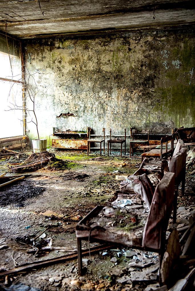 Pripyat Hospital Main Entrance