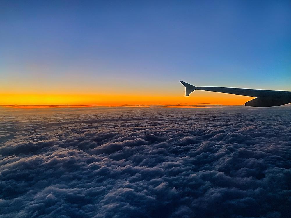 Aegean Flight to Sofia - Window Seat View