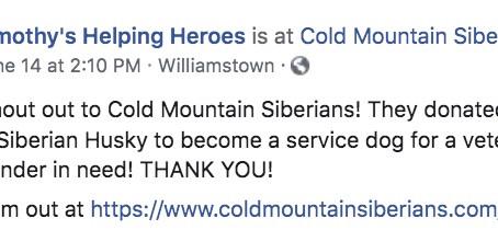 CMS donates a second Siberian