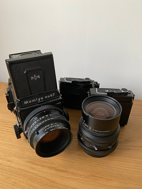 Mamiya RB67 Pro SD with 127mm lens & 65mm lens, Pro & Pro SD Film backs