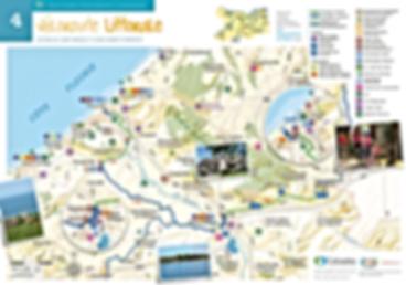 Carte vélo voies vertes Deauville - Pont-L'êveque