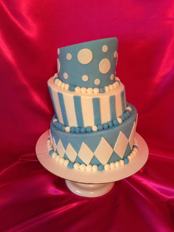 Blue & White Party Cake