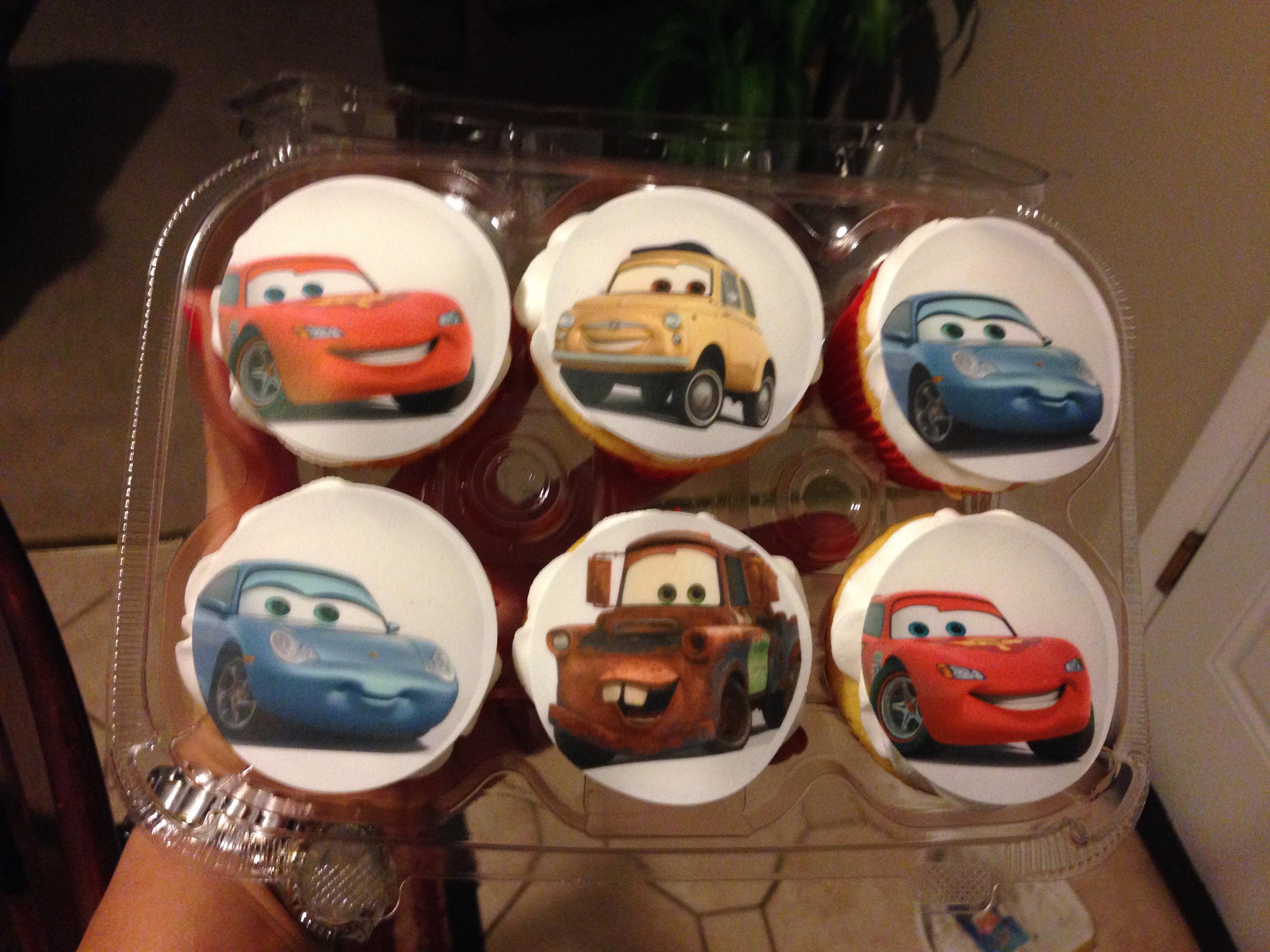 """Cars"" Cupcakes"