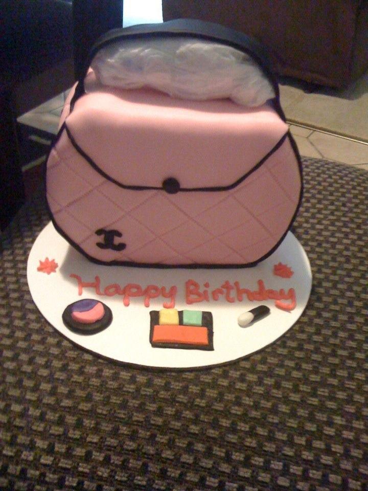 Chanel Makeup Bag Cake