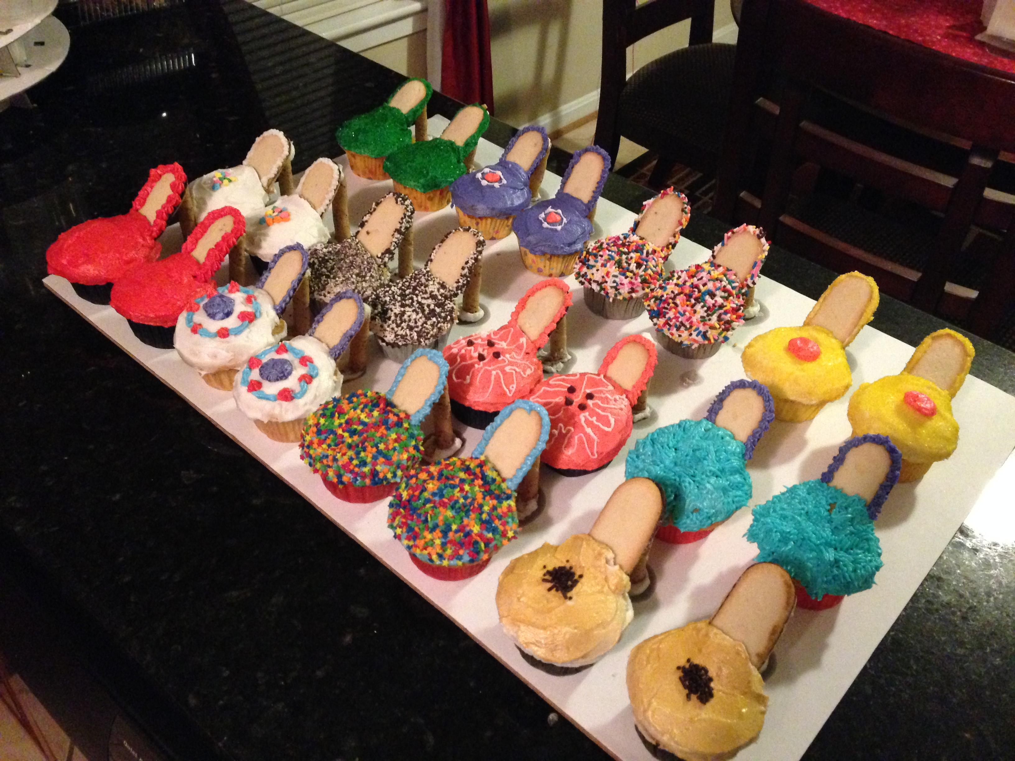 High Heel Cupcakes