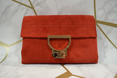 Coccinelle Suede Clutch/Crossbody