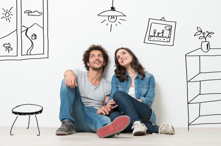 couple dreaming of buying a home