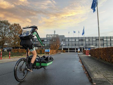 Wiltec laat pakketten per fiets bezorgen