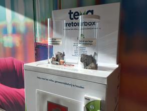 Al bijna 500 apotheken met een Teva Retourbox