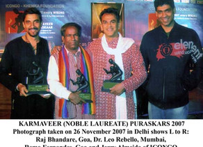 Karmaveer Puraskar 2007 - For Social Justice and Action.