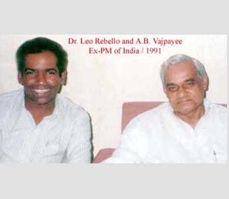 Dr. Leo Rebello with Atal Bihari Vajpayee, EX-PM of India, 1991.
