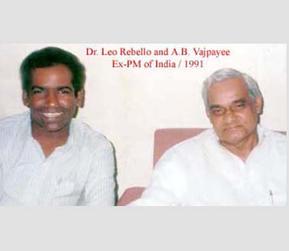 Dr. Leo Rebello with Atal Bihari Vajpayee, EX-PM of India, 1991.