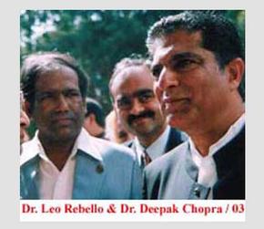 Dr. Leo Rebello and Dr. Deepak Chopra, 2003.