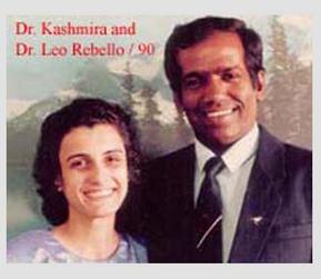 Dr. Leo Rebello with Dr. Mrs. Kashmira Rebello, 1990.