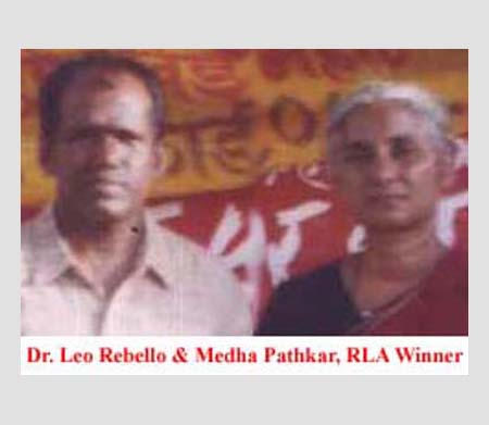 Dr. Leo Rebello and Medha Pathkar, RLA Winner.