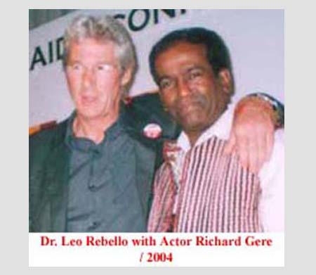 Dr. Leo Rebello with Actor Richard Gere, 2004.