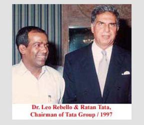 Dr. Leo Rebello and Mr. Ratan Tata, Chairman of Tata Group. 1997.