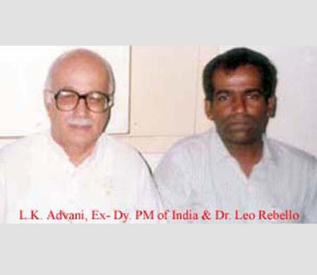 L.K Advani, Ex-Dy. Prime Minister of India and Dr. Leo Rebello.