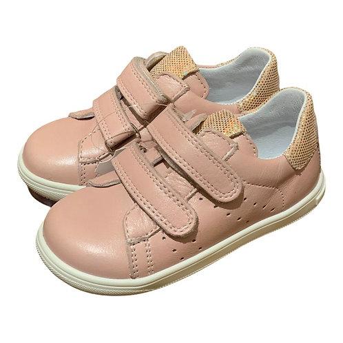 Bopy scarpe bambina sportive in pelle rosa cipria chiusura 2 strap