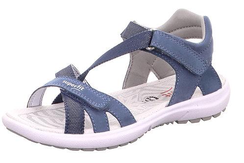 Superfit sandali suola flessibile nabuk avio calzata affusolata