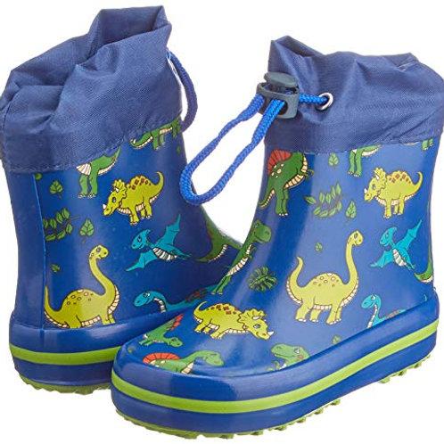 Stivali di gomma bassi con coulisse dinosauri Gummistiefel