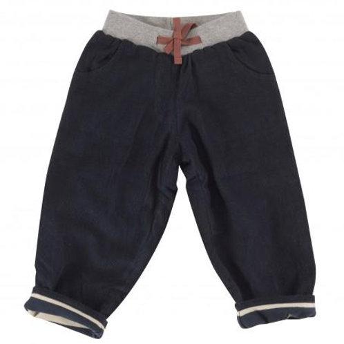 Pigeon pantaloni velluto coste sottili  foderati cotone organico 100%
