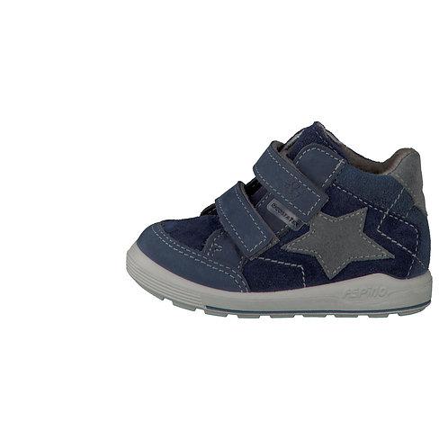 Pepino Kimi blu grigio scarpe sportive pelle impermeabili velcro