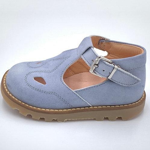 L'ecologica scarpe sandali 2 occhi azzurro Made in Italy