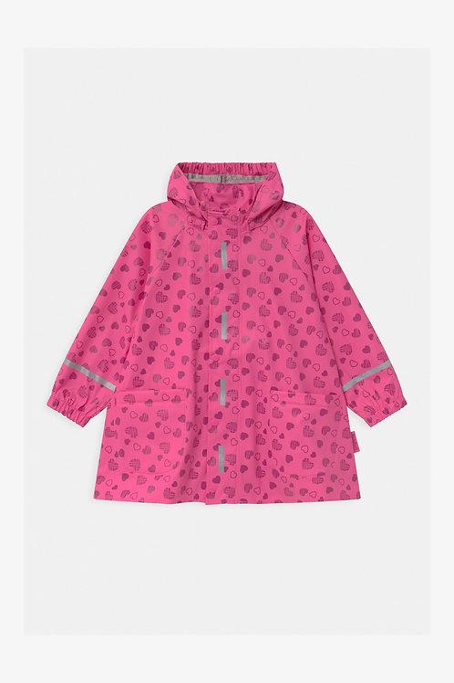 Mantellina Giacca pioggia Playshoes con cappuccio staccabile e chiusura cerniera