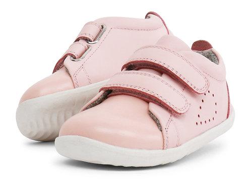 Bobux Grass Court scarpe primi passi in pelle rosa