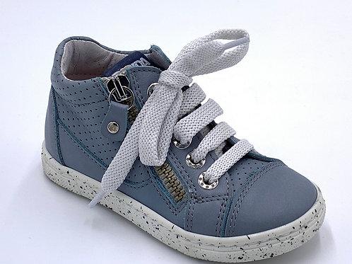 Panda scarpe sneaker azzurro carta da zucchero lacci cerniera Made in Italy