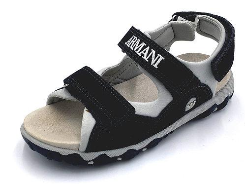 Armani sandali bambino blu chiusura 2 velcri