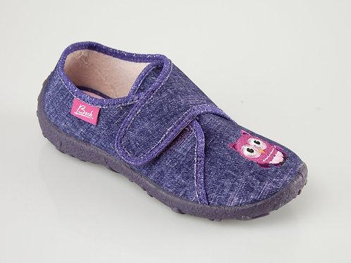 Beck pantofole asilo in cotone e chiusura velcro