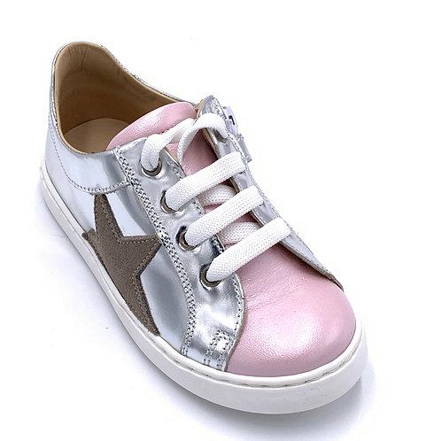 Jff scarpe sportive in pelle certificata laccio cerniera Made in Italy