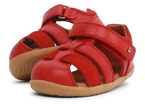 Sandali Bobux Roam gabbietta velcro rosso