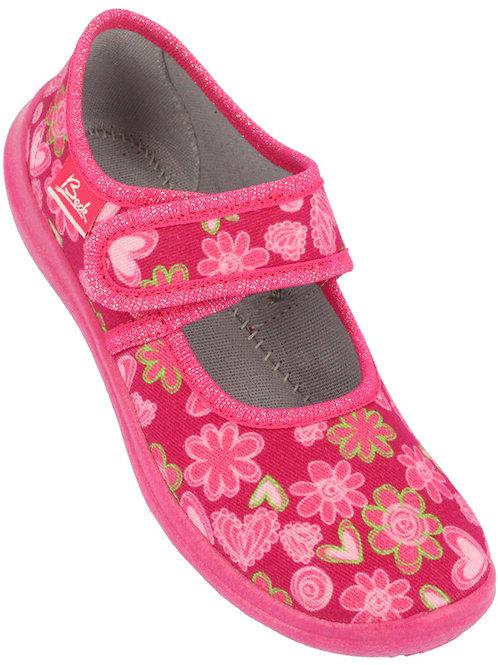 Beck pantofole asilo modello bebè in cotone e chiusura velcro