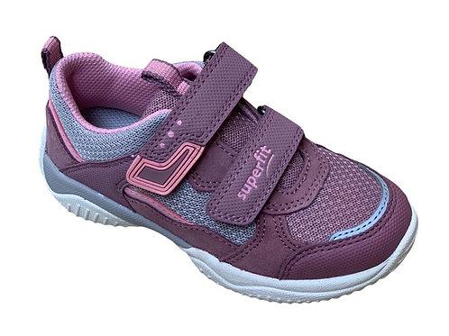 Superfit scarpe sportive bambina allacciatura velcro rosa grigio