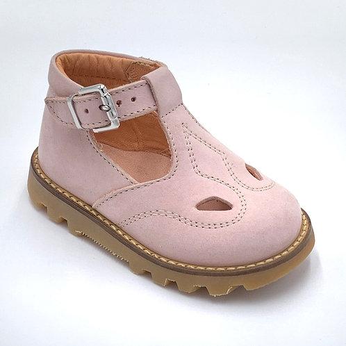 L'ecologica scarpe sandali 2 occhi rosa chiaro Made in Italy