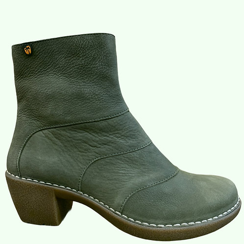 Jungla stivaletti stivali DONNA pelle con cerniera suola gomma tacco 5cm