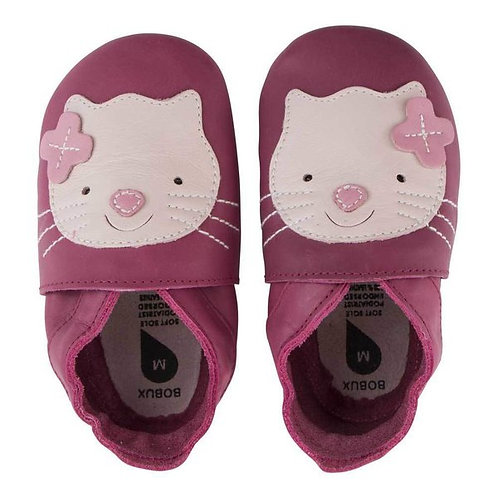 Bobux soft sole gattino fuxia