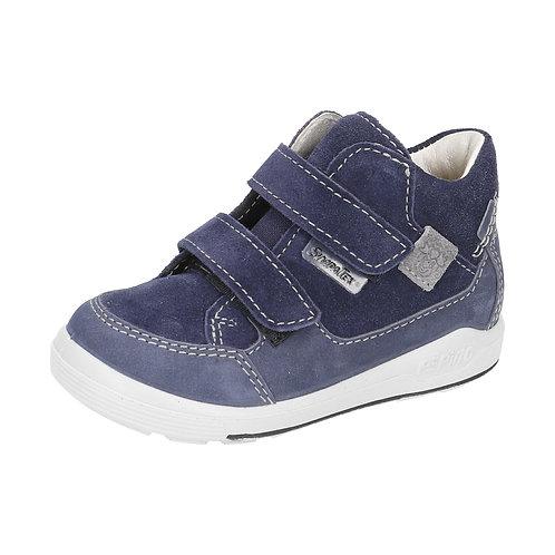 Pepino Zach blu grigio scarpe sportive pelle impermeabili velcro