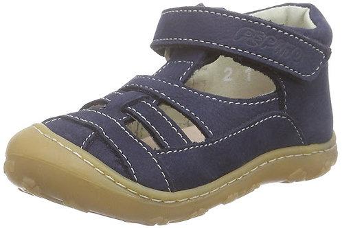 Pepino Lany nabuk naturale blu scarpe semi aperte