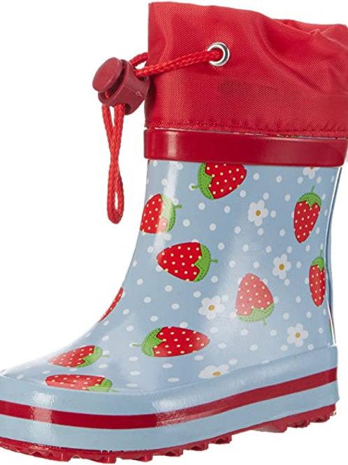Stivali di gomma bassi con coulisse fragole rosse Gummistiefel