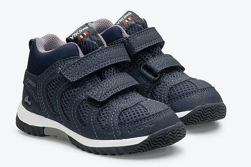 Viking Cascade Mid GTX Kinderschuhe scarpe sportive robuste blu velcro Gore-Tex