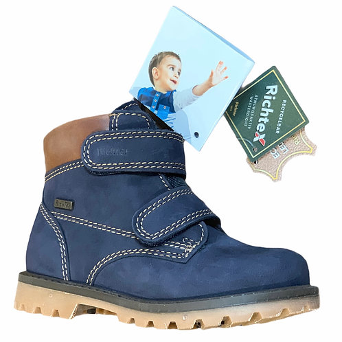 Richter scarpe scarponcini bambino impermeabili in pelle chiusura velcro