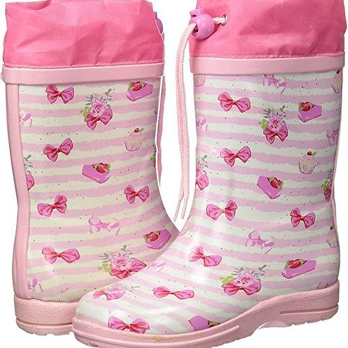 Stivali di gomma con coulisse dolcetti Gummistiefel cupcake