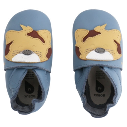 Bobux soft sole Leopardino azzurro